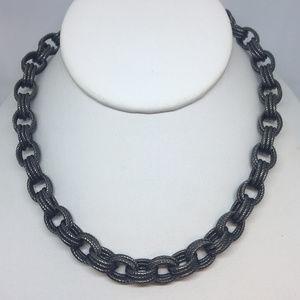Milor Bronze Italy Black Rhodium Link Necklace